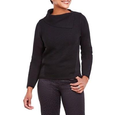 オルセン レディース ニット&セーター アウター Side Open Cowlneck Sweater Black