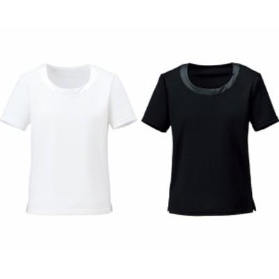 衿ぐり切替え半袖ニット 5号~15号 BCK7302 ボンマックス