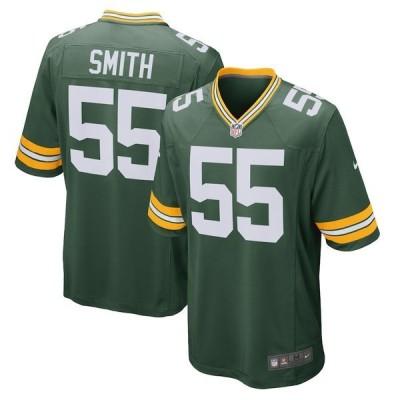 ナイキ メンズ Tシャツ トップス Za'Darius Smith Green Bay Packers Nike Game Team Jersey Green