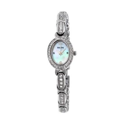 腕時計 ブローバ Bulova Crystal Mother of Pearl Dial Stainless Steel Ladies Watch 96L199