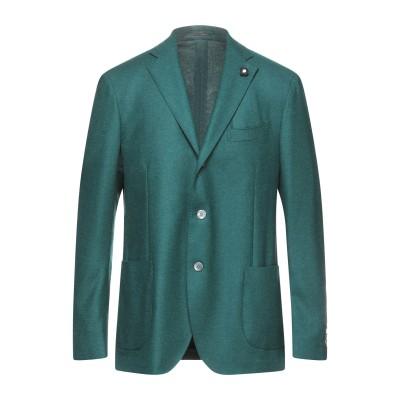 ラルディーニ LARDINI テーラードジャケット グリーン 54 ウール 100% テーラードジャケット