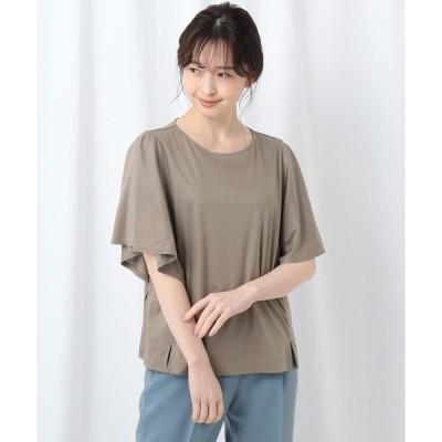 tシャツ Tシャツ 【WEB先行販売/洗える】フリルスリーブカットソー