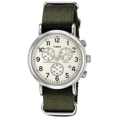 腕時計 タイメックス Timex TW2P71400 メンズ Weekender Indiglo Slip-On ファブリック バンド クロノグラフ 腕時計