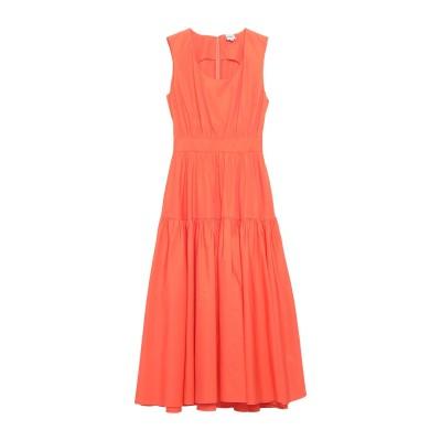 アスペジ ASPESI 7分丈ワンピース・ドレス オレンジ 40 コットン 100% 7分丈ワンピース・ドレス