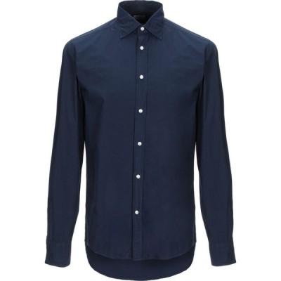 デペール DEPERLU メンズ シャツ トップス solid color shirt Dark blue