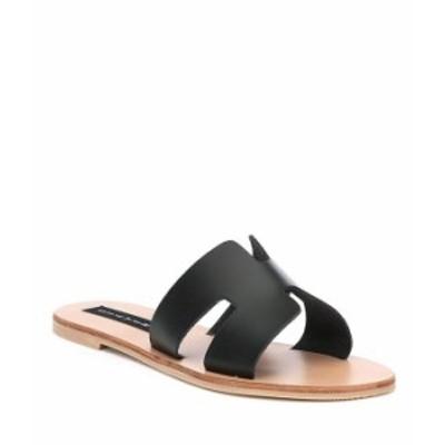 スティーブ マデン レディース サンダル シューズ Steven by Steve Madden Greece Leather Sandals Black Leather