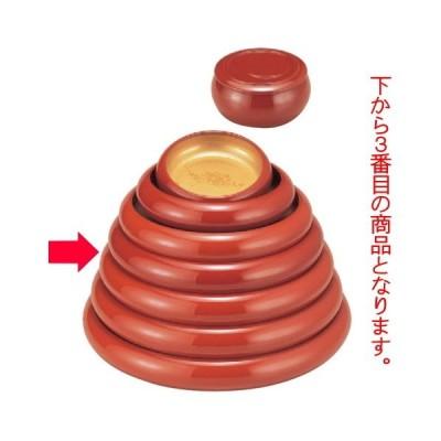 寿司 寿冠鉢色紙金箔外朱尺1寸 [35.5φ x 6.5cm] ABS樹脂 (7-458-3) 料亭 旅館 和食器 飲食店 業務用