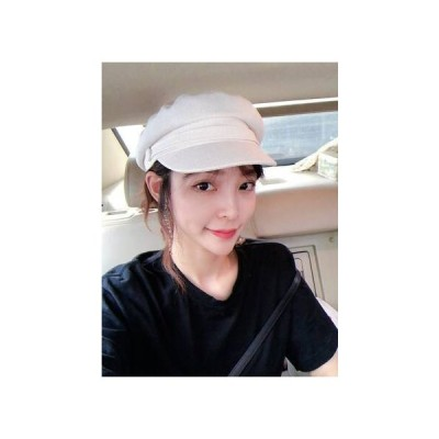 コットン 麻 キャスケット帽子 ハンチング レディース カジュアル デート