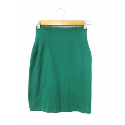 【中古】未使用品 アイズビットガーディアン ISBIT GUARDIAN スカート タイト ひざ丈 ニット F 緑 グリーン /AAM