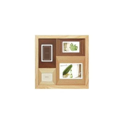 ラドンナ アバンティシリーズ AVANTI カラーウッドフレーム 4窓 ナチュラル フォトフレーム CW30-40-NT