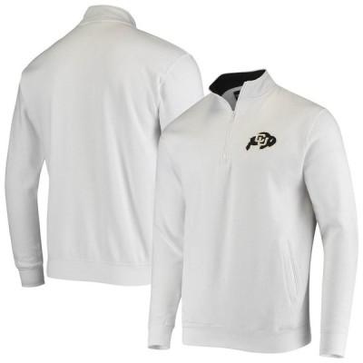 """メンズ ジャケット """"Colorado Buffaloes"""" Colosseum Tortugas Logo Quarter-Zip Jacket - White"""