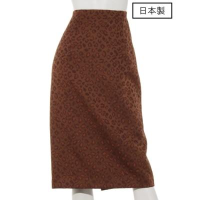 dolly-sean (ドリーシーン) レディース 【日本製】ヒョウジャガードタイトスカート ブラウン S
