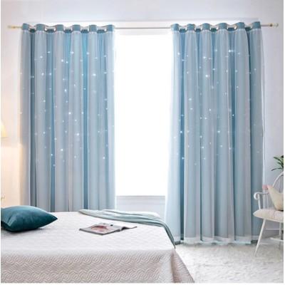 【複数のサイズ】 遮光カーテン カーテン 2枚組 遮光 断熱 レースカーテン 二重 小窓 かわいい UVカット 紫外線カット 北欧 おしゃれ
