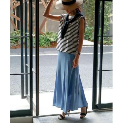 GIRL / テンセルデニムマーメイドフレアロングスカート(マーメードスカート) WOMEN スカート > デニムスカート