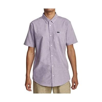 RVCA メンズ Thatll Do ストレッチ 半袖 織物 ボタンフロントシャツ US サイズ: Medium カラー: パープル