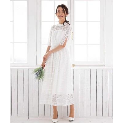 ドレス 【kaene×formforma】ボトルネックウェディングロングドレス