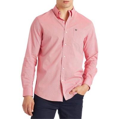 チャップス メンズ シャツ トップス Long Sleeve Stretch Easy Care Button Down Shirt