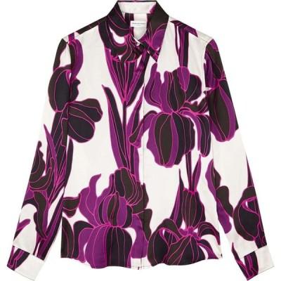 ドリス ヴァン ノッテン Dries Van Noten レディース ブラウス・シャツ トップス chow floral-print silk-satin blouse Pink