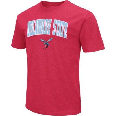 メンズ スポーツリーグ アメリカ大学スポーツ Colosseum Men's Delaware State Hornets Red Dual Blend T-Shirt Tシャツ