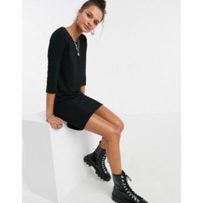 オンリー Only レディース ワンピース ミドル丈 ワンピース・ドレス Randy midi dress in black ブラック