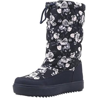 [Shenji] レディースブーツ スノーブーツ ロングブーツ 防寒防滑雪靴 グレー 25cm