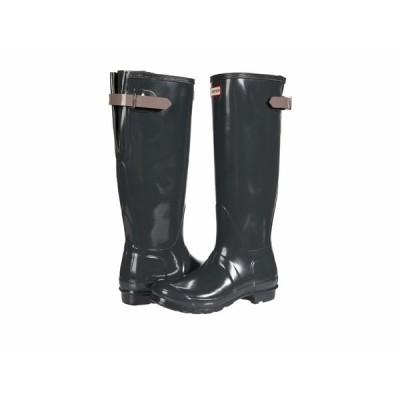ハンター ブーツ&レインブーツ シューズ レディース Original Back Adjustable Gloss Rain Boots Firth/Atlantis