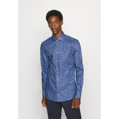 トミー ヒルフィガー メンズ シャツ トップス FLORAL PRINT CLASSIC SLIM - Shirt - blue blue