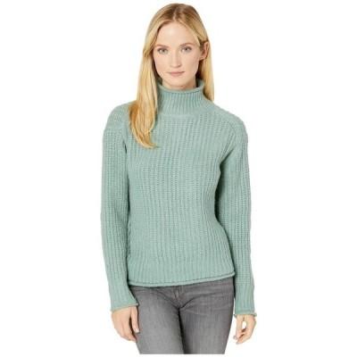 ヴィンスカムート レディース ニット・セーター アウター Long Sleeve Texture Stitch Mock Neck Sweater