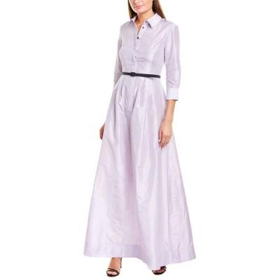 オスカー デ ラ レンタ ワンピース トップス レディース Oscar de la Renta Belted Silk Maxi Dress -