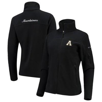 コロンビア ジャケット&ブルゾン アウター レディース Appalachian State Mountaineers Columbia Women's Give & Go Full-Zip Jacket Black