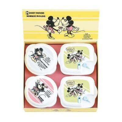 ディズニー ミッキー&ミニー ヴィンテージコミック 電子レンジ容器4点セット Disney MICKEY MOUSE MINNIE MOUSE