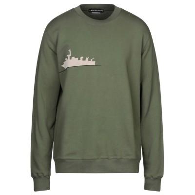 A BUSH OF GHOSTS スウェットシャツ ミリタリーグリーン XL コットン 100% スウェットシャツ