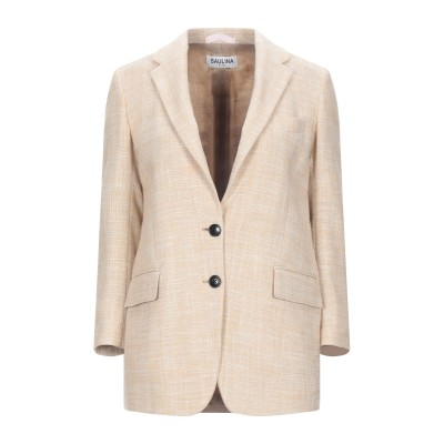 SAULINA Milano テーラードジャケット ベージュ 40 コットン 60% / ポリエステル 40% テーラードジャケット