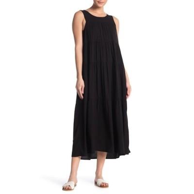 マックスタジオ レディース ワンピース トップス Tiered Sleeveless Maxi Dress BLACK