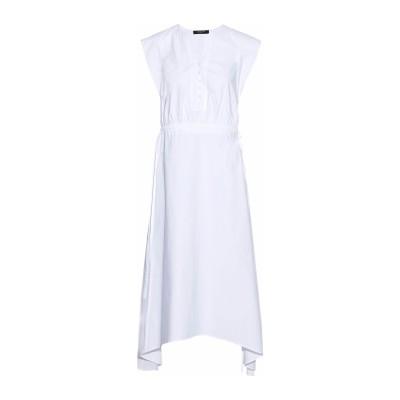 デレク ラム DEREK LAM 7分丈ワンピース・ドレス ホワイト 42 コットン 95% / ポリウレタン 5% 7分丈ワンピース・ドレス