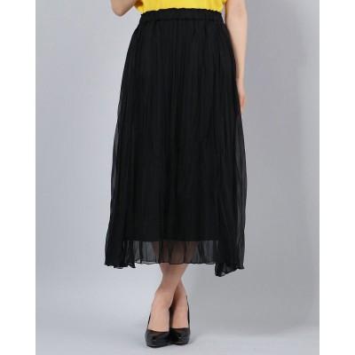 コムサイズム COMME CA ISM プリーツスカート (ブラック)