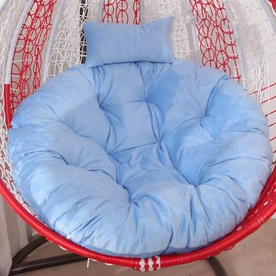 [ピンク]ハンモックチェアシートクッションハンギングスイングベルベットシートパッド厚い巣ハンギングチェアバックピローホームオフィス家具アクセサリー