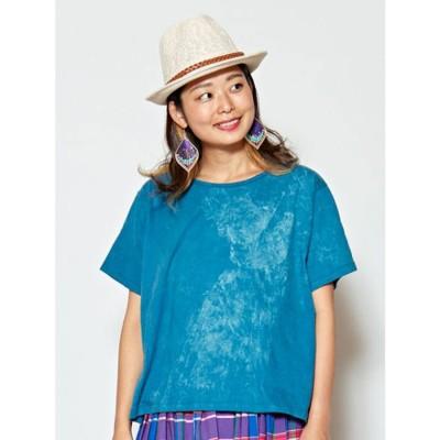 【チャイハネ】yul アシッドウォッシュTシャツ ブルー