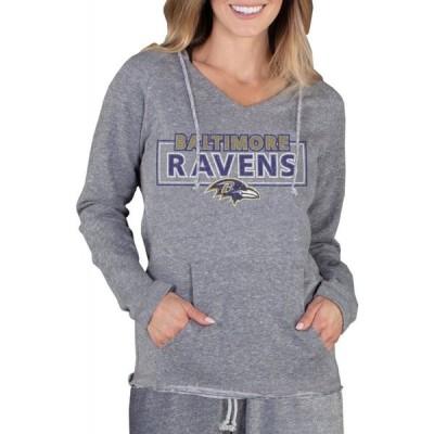 コンセプト スポーツ Concepts Sport レディース パーカー トップス Baltimore Ravens Mainstream Grey Hoodie