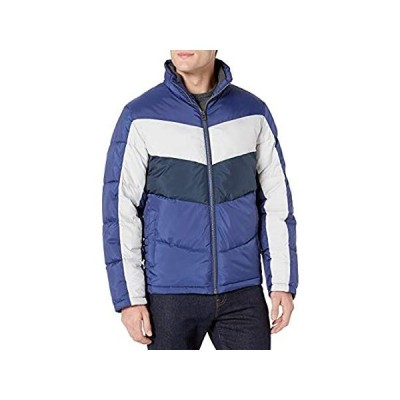 Lucky Brand メンズ Southold ジップフロントキルトスキージャケット US サイズ: Small カラー: ブルー