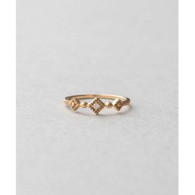 【エテ/ete】 K10YGピーチピンキー ダイヤモチーフ