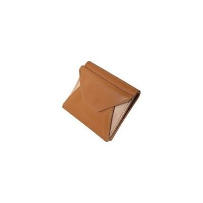 m、i、u、o.j  ヌメ革 二つ折り財布/キャメル/OJ−1004