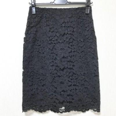 ルルウィルビー Loulou Willoughby ロングスカート サイズ1 S レディース - 黒 刺繍【中古】20210616