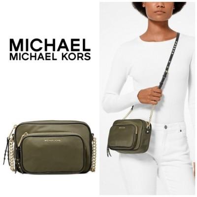 マイケルコース Michael Kors  ナイロン ポケット ショルダーバッグ ミニ ショルダー チェーン Leila カーキ レディース 取り寄せ