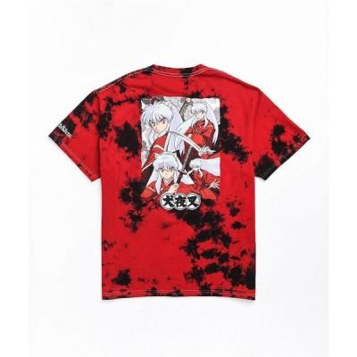 ハイプランド ワールドワイド HYPLAND WORLDWIDE メンズ Tシャツ トップス Hypland x InuYasha Crescent Red Tie Dye T-Shirt Red