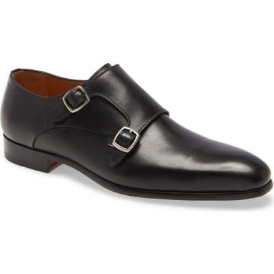 マグナーニ MAGNANNI メンズ 革靴・ビジネスシューズ シューズ・靴 Lisbon Double Monk Strap Shoe Black