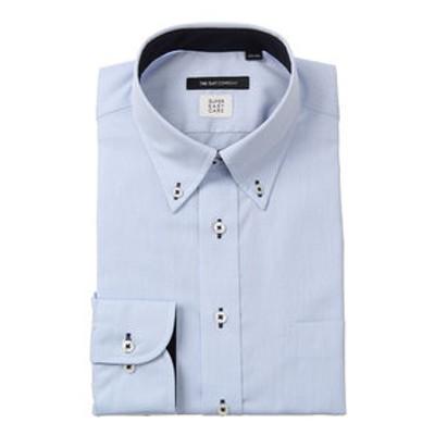 【SUPER EASY CARE・再生繊維】ボタンダウンカラードレスシャツ〔EC・BASIC〕