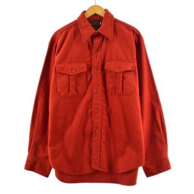 80〜90年代 エディーバウアー Eddie Bauer 長袖 シャモアクロスシャツ USA製 メンズL ヴィンテージ /eaa170436