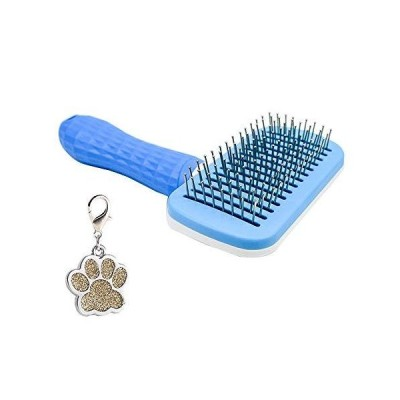 Self Cleaning Slicker Brush?Your Dog/Cat Will Love Being Brushed with The Grooming Brush-Gently Removes Loose Undercoat, Mats and Tangled