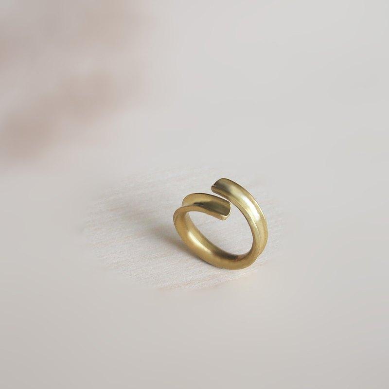 【倆相守】現貨/訂製/純手工黃銅戒指/自用/送禮/1個戒指2種款式